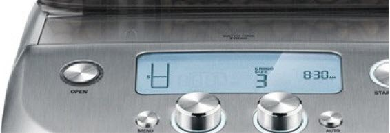 Breville grind control coffee maker lcd display