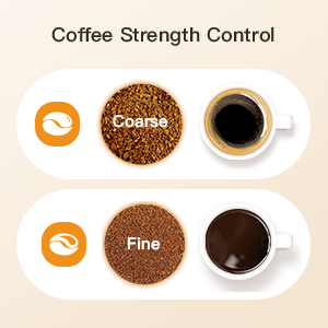 sboly coffee machine grind and brew coffee strength control