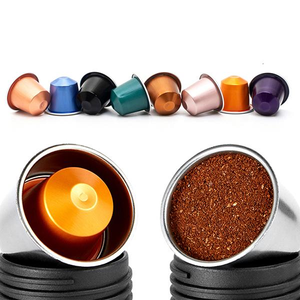 Staresso Espresso Maker uses nespresso pods and ground coffee
